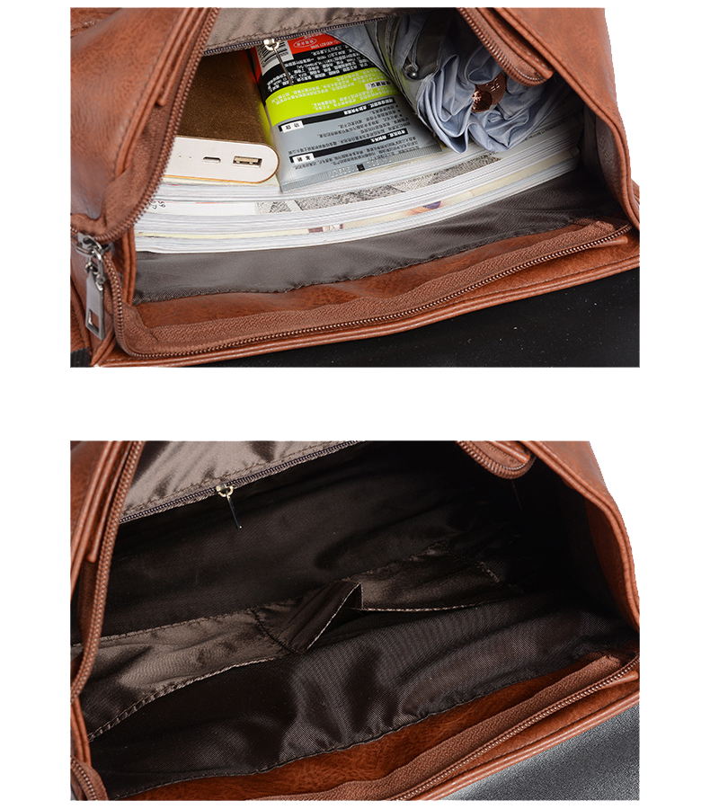 Sacs à dos Vintage en cuir PU 9