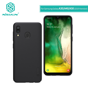 NILLKIN For Samsung Galaxy A30 case cover 2019 6.4'' For Samsung A50/A40/A60/A70 case PC Matte hard back cover with Phone Holder
