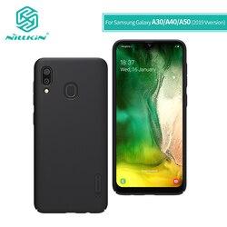 NILLKIN do Samsung Galaxy A30 skrzynki pokrywa 2019 6.4 ''do Samsung A50/A40/A60/A70 case PC matowa twarda tylna pokrywa z uchwytem telefonu