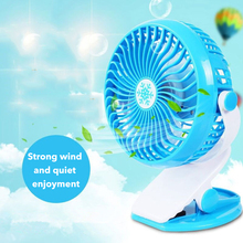 Portable Rechargeable Stand Table Fan Clip  4 Blade 360 Degree Rotate Usb Charging ABS Material Silent Usb Desk Fan For Student