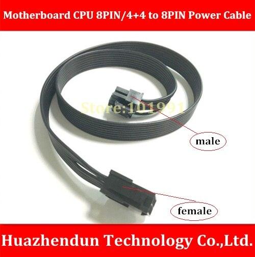 DEBROGLIE  FULL BLACK Motherboard CPU 8PIN/4+4 Male to 8PIN Female Power Extension Cable 60CM 18AWG 8-Ribbon Cable arri alexa mini amirai power link lemo fhj 2b 8 pins female to 4 pin neutrik xlr 4 pin female cable 1m