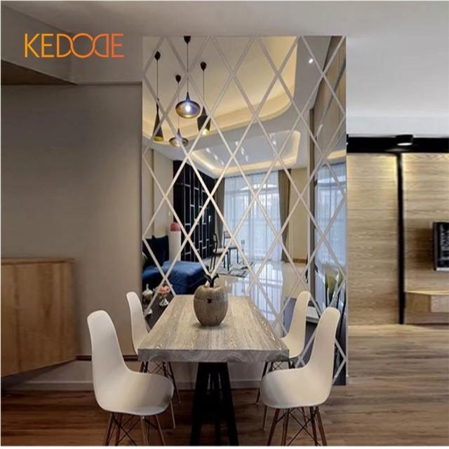 KEDODE Kreative 3D Diamant Spiegel Stereo Aufkleber Esszimmer TV  Hintergrund Decke Dekorative Wandaufkleber