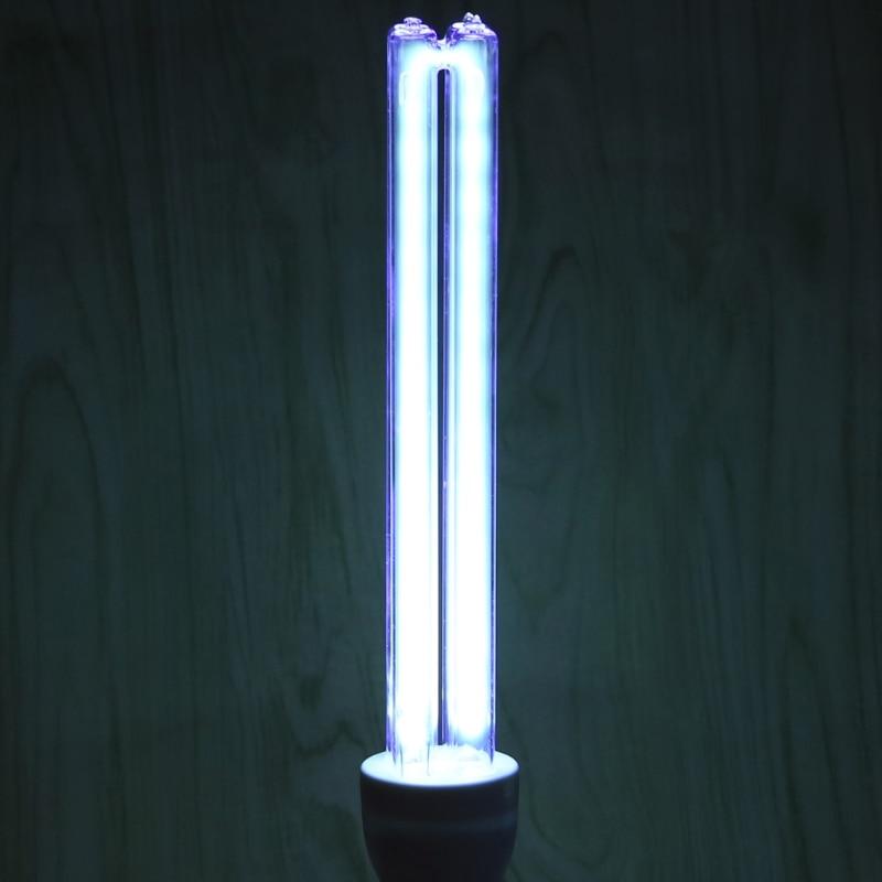 все цены на E27 UVC Ultraviolet UV Light Tube Bulb 20W Disinfection Lamp Ozone Sterilization Mites Lights Germicidal Lamp Bulb L15