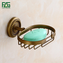 Wholesale And Retail Traditional Antique Brass Bathroom Soap Dish Holder Basket Wall Mounted