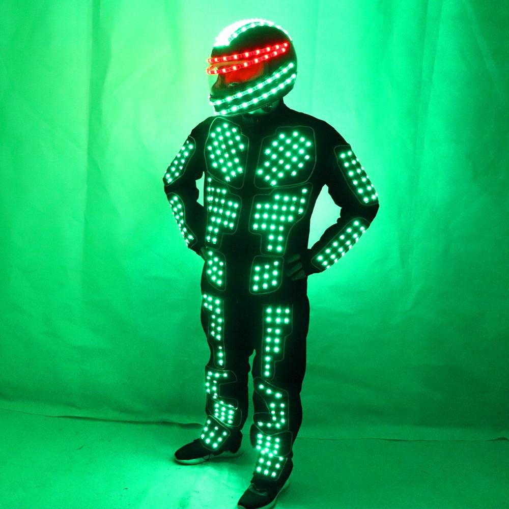 Nově přijaté LED kostýmy Slavnostní Party dodávky Světelné zářící obleky / Stage Performance Oblečení / Robot kostým  t