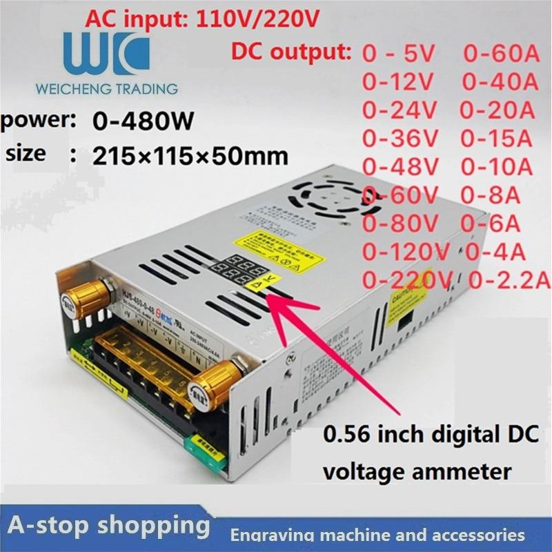 Digital display adjustable DC switching power supply0-5V60A/0-12V40A/0-24V20A/0-36V15A/0-48V10/0-60V8A/0-80V6A/0-120V4A/0-220V2ADigital display adjustable DC switching power supply0-5V60A/0-12V40A/0-24V20A/0-36V15A/0-48V10/0-60V8A/0-80V6A/0-120V4A/0-220V2A