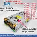 Digital display einstellbar DC schalt power supply0-5V60A/0-12V40A/0-24V20A/0-36V15A/0-48V10/0-60V8A/0-80V6A/ 0-120V4A/0-220V2A