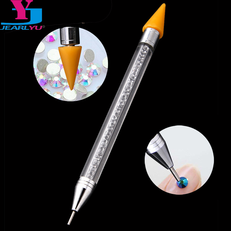 1pc High Quality Wax Pen Rhinestone Picker Pencil Double Head Acrylic Nail Art Pen Dotting Tools Manicure Nails Accessories Tool