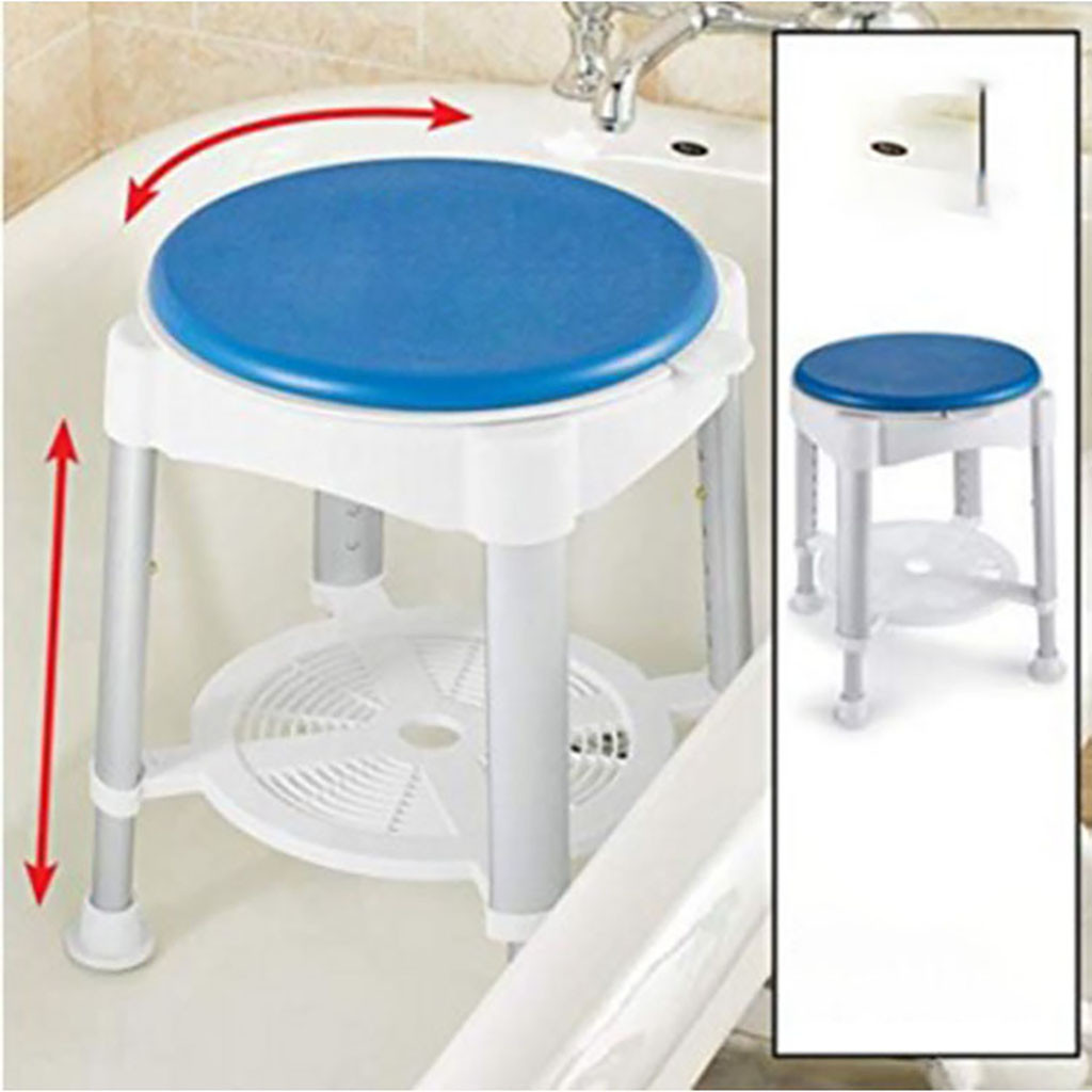 2019 Hot Products Adjustable Height Bathroom Anti-Slip Stool Rotating Bathroom Stool Household Family Low Price Shipping