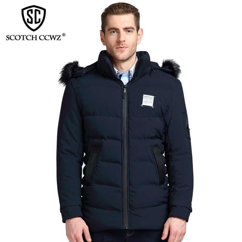 SCOTCH CCWZ Brand RU/EU size Thick Warm Winter Jacket Men Parkas 2017 Windproof Jackets And Coats For Men Fashion Clothing 7176 free shipping winter parkas men jacket new 2017 thick warm loose brand original male plus size m 5xl coats 80hfx