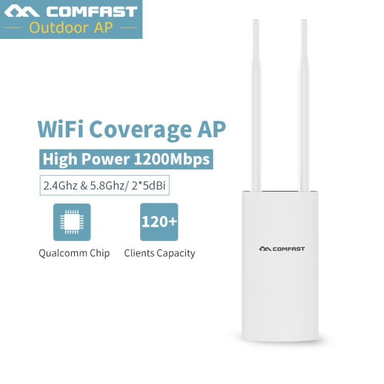 Waterproof Outdoor CPE WIFI Router WIFI Repeater Long Range 1200Mbps 2.4G 5.8ghz Outdoor AP Router CPE AP Bridge Client Router wireless outdoor cpe wifi 5 8g 300m wifi ap client repeater wifi extender long range 3km ap router cpe ap bridge 2 11dbi antenna