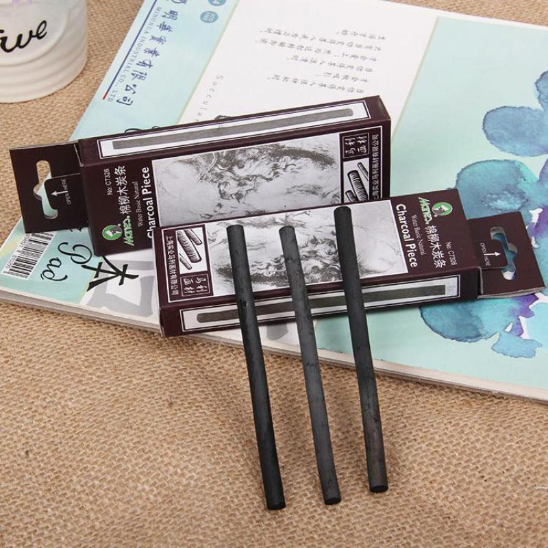 6 Pcs/box Dark Black Pencils Sketch Drawing Oil Painting Charcoal Bar Stick Artist For Oil Painting Artist Art Supply