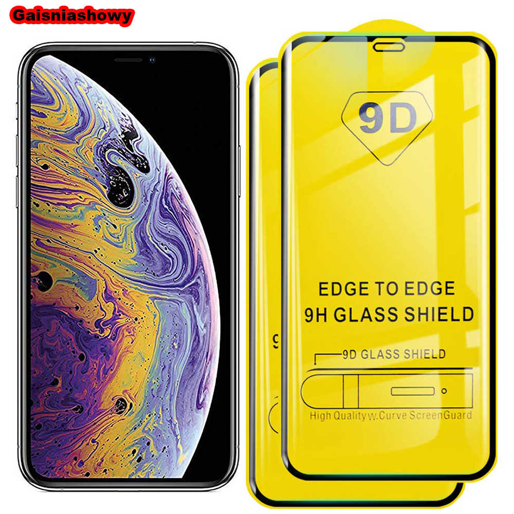 9D Curved Full Cover Tempered Glass on the For iPhone 6 6s 7 8 Plus Screen Protector For iPhone X XR XS Max Protection Film