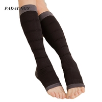 PADAUNGY Sexy Stockings Slim Leg Women Legs Massage Stocking Open Toe Knee Socks Thigh High Sock Warmers Shapewear Stockings