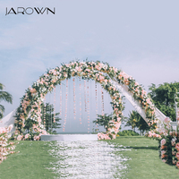 JAROWN New Wrought Iron Balloon Arch T Stage Decoration Wedding Flower Arrangement Decoration Round Ring Activity Party Decor