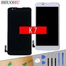 Getestet Lcd-bildschirm 5,0 zoll Für LG K7 LS675 X210 MS330 lcd Display Touch Digitizer Screen Schwarz Weiß