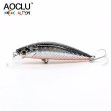 AOCLU wobblers Super Quality 7 Colors 50mm Hard Bait Minnow Crank Popper Stik Fishing lures Bass Fresh Salt water 12# VMC hooks