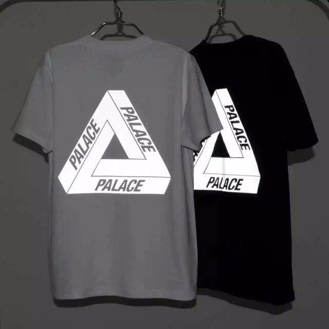 06de51108139 New Men s 3M Reflective Palace Skateboards T Shirt Good Quality 100% Cotton  Hip Hop Palace T-Shirt Men Palace Tee Tshirt