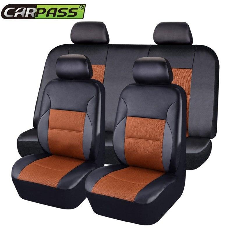 Car-pass 2019 Nuevo Fundas de Asiento de Coche de Coche de Cuero - Accesorios de interior de coche - foto 2