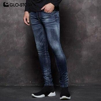 2a8dd547d8 MNK-7706 estilo europeo 2018 otoño nuevos pantalones vaqueros ajustados de  mezclilla para hombre a
