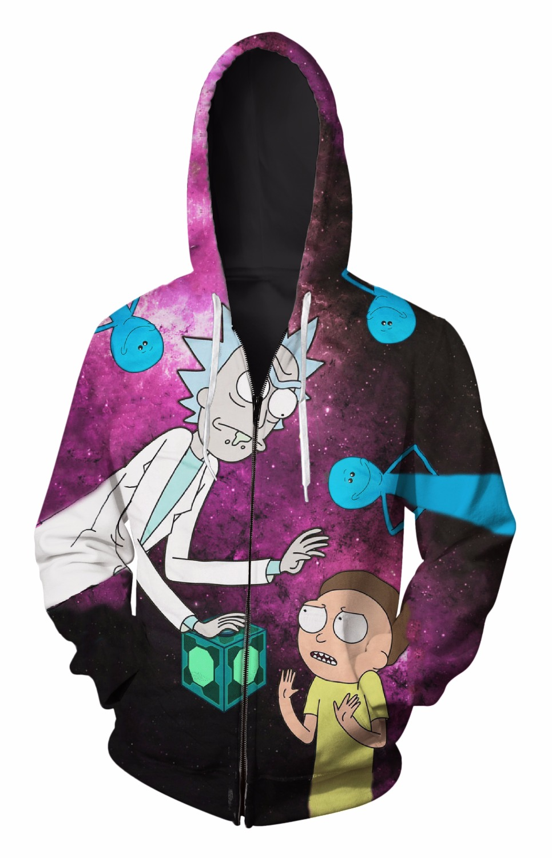 Zip-Up Hoodie 3d Print Soft Rick Clothing Women Men Tops Hooded Casual Zipper Sweatshirt Outfits Coats Sweat factory outlet