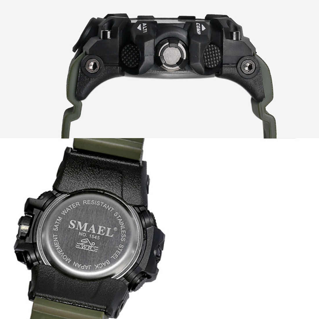 SMAEL ماركة الرجال ساعة التمويه العسكرية ساعة ساعة رقمية LED ساعة اليد 50 متر مقاوم للماء ساعة رياضية Relogio Masculino