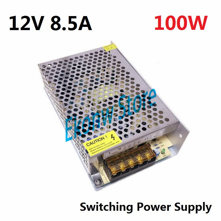 100W 12V 8A Switching Power Supply Factory Outlet SMPS Driver AC110-220V to DC12V Transformer for LED Strip Light Module Display s 800 36 single output 800w 36v dc switching power supply driver transformer 220v ac to dc36v smps for cnc machine diy led cctv