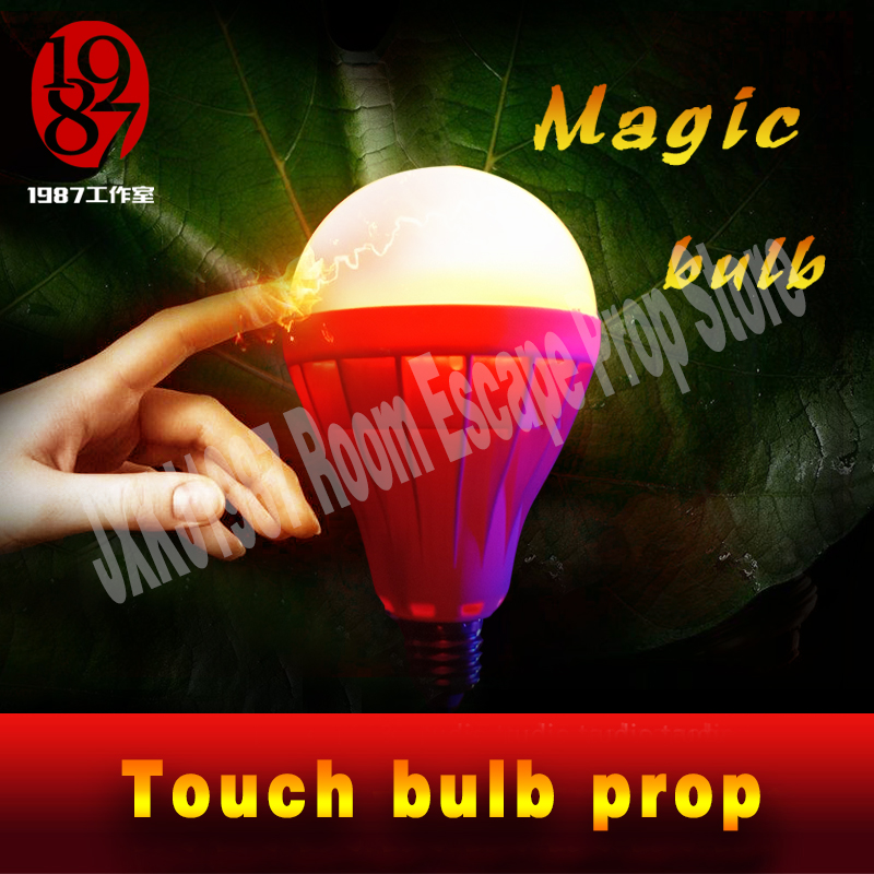 TAKAGISM game real life roomescape prop jxkj1987 magic touch bulb cover the bulb with your whole hands to open the door