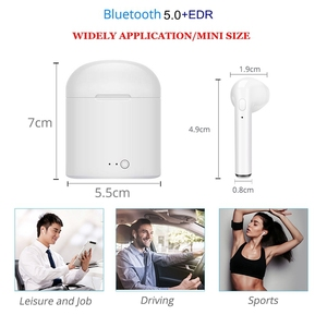 Image 5 - New i7s TWS Mini Wireless Earphones HiFi Stereo Headset Bluetooth 5.0 Earbuds With Mic Charging Box For Phone IOS Android