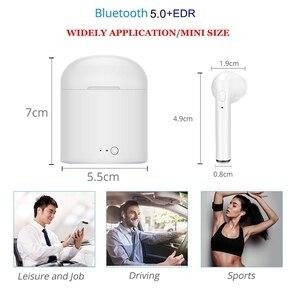Image 5 - Nouveau i7s TWS Mini sans fil écouteurs HiFi stéréo casque Bluetooth 5.0 écouteurs avec micro boîte de charge pour téléphone IOS Android