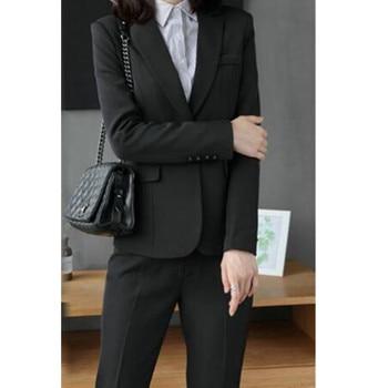 Customized new hot women's fashion slim suit two-piece suit (jacket + pants) women's solid color business formal suit