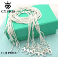 SALE wholesale retail 16 18 20 22 24 inch bulk lot fashion silver 1MM snake chain accessory jewelry findings stamp CYPRIS 925