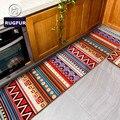 Tapete de moda europeus e americanos geométrica comprimento do vento nacional de cabeceira quarto carpet mat non-slip tapetes da cozinha