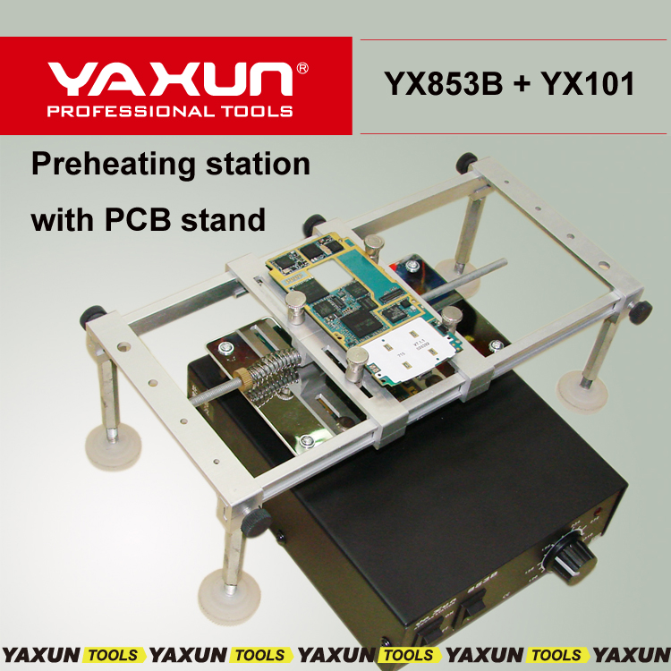 220V 500W Hot Air Bga Preheating Preheater Station YAXUN 853B rework station with YX101 PCB Stand
