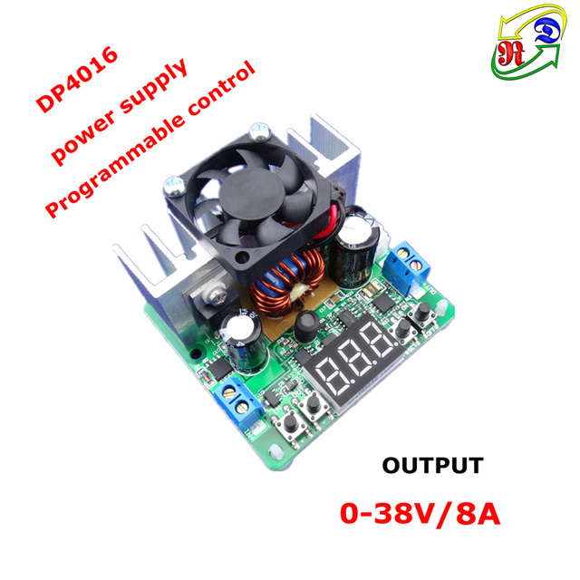 RD DP4016 Constante Spanning Step-down Programmeerbare Voeding buck converter Digitale voltage meter led display ROOD 8A