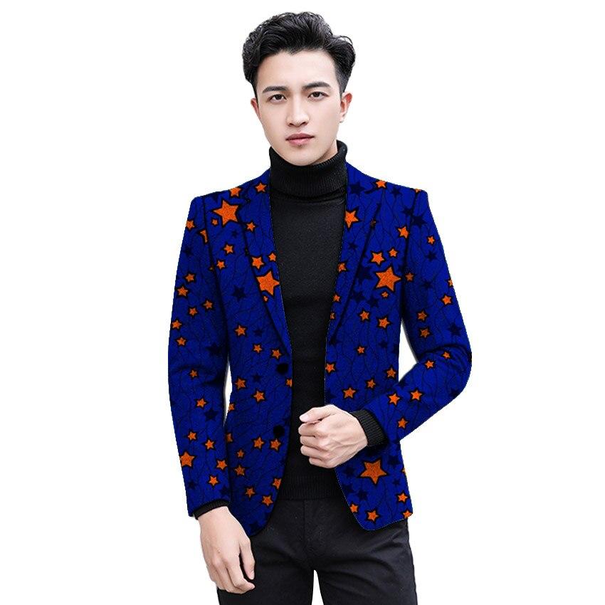 African Clothing Men S Print Blazers Slim Fit Ankara Fashion Suit
