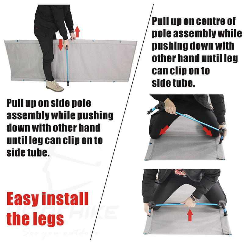 camping cot Easy install