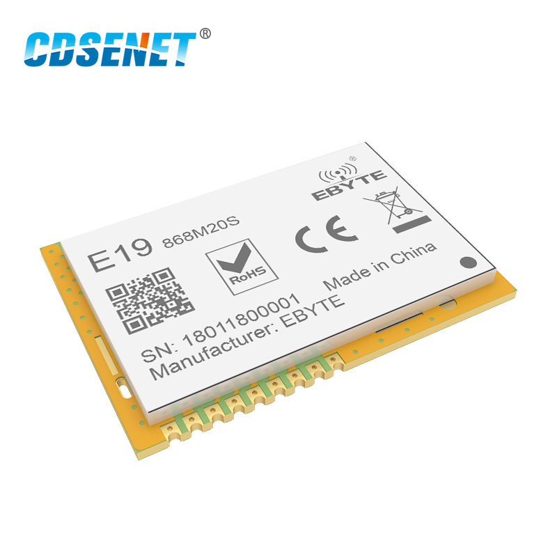 Image 3 - LoRa 868 MHz SX1276 SX1278 Transceiver Wireless rf Module 100mW CDSENET E19 868M20S Long Range SMD 868MHz Transmitter Receiver-in Fixed Wireless Terminals from Cellphones & Telecommunications