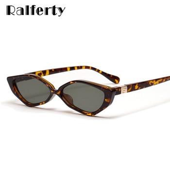 c38277eaf9 Ralferty ojos de gato gafas de sol de las mujeres 2019 nuevo Retro único  triángulos Ultra pequeño Marco de tortuga de mujer tonos W813066