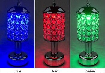 Clip-On LED Candeeiro De Mesa De Cristal Lâmpada De Mesa De Carregamento USB Flexível Lâmpada De Leitura 2 Modos De Dispositivo De Alimentação Por USB Ou 3AAA Bateria