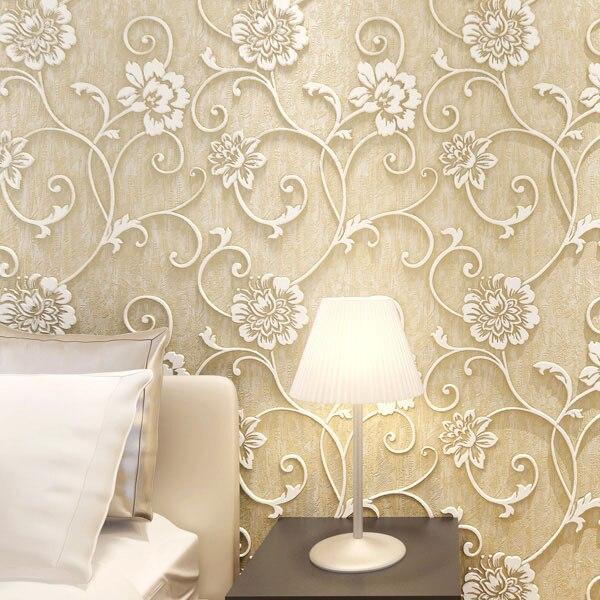 Ecologico non tessuto carta da parati camera da letto in stile ...