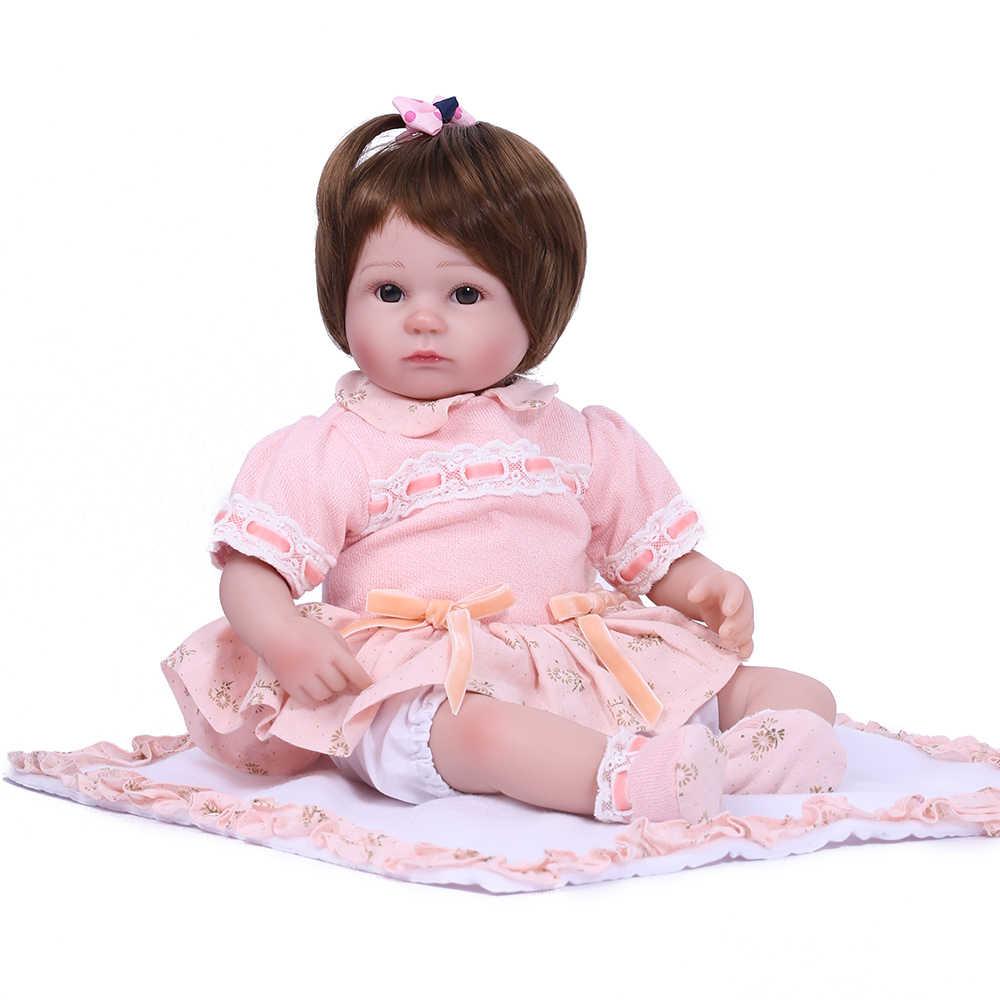 KAYDORA, 17 дюймов, 42 см, виниловая силиконовая кукла-Реборн, Реалистичная кукла для малышей, настоящая кукла, Реалистичная принцесса, девочка, дети, Реборн, младенцы