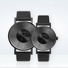 Hombres Nuevos Relojes KLASSE14 Marca de Lujo de Cuero Genuino Lleno de moda Casual Impermeable Reloj Deportivo Mujeres Reloj de Pulsera de Cuarzo