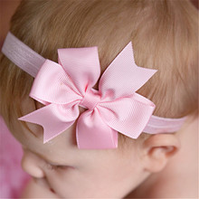European and American childrens hair band pure-colored V-ribbon swallow-tailed baby bow