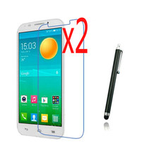"3in1 2x LCD Klar Screen Protector Filme Schutz Film Guards + 1x Stylus Stift Für Alcatel One Touch POP 7 p310 P310A P310X 7""(China)"