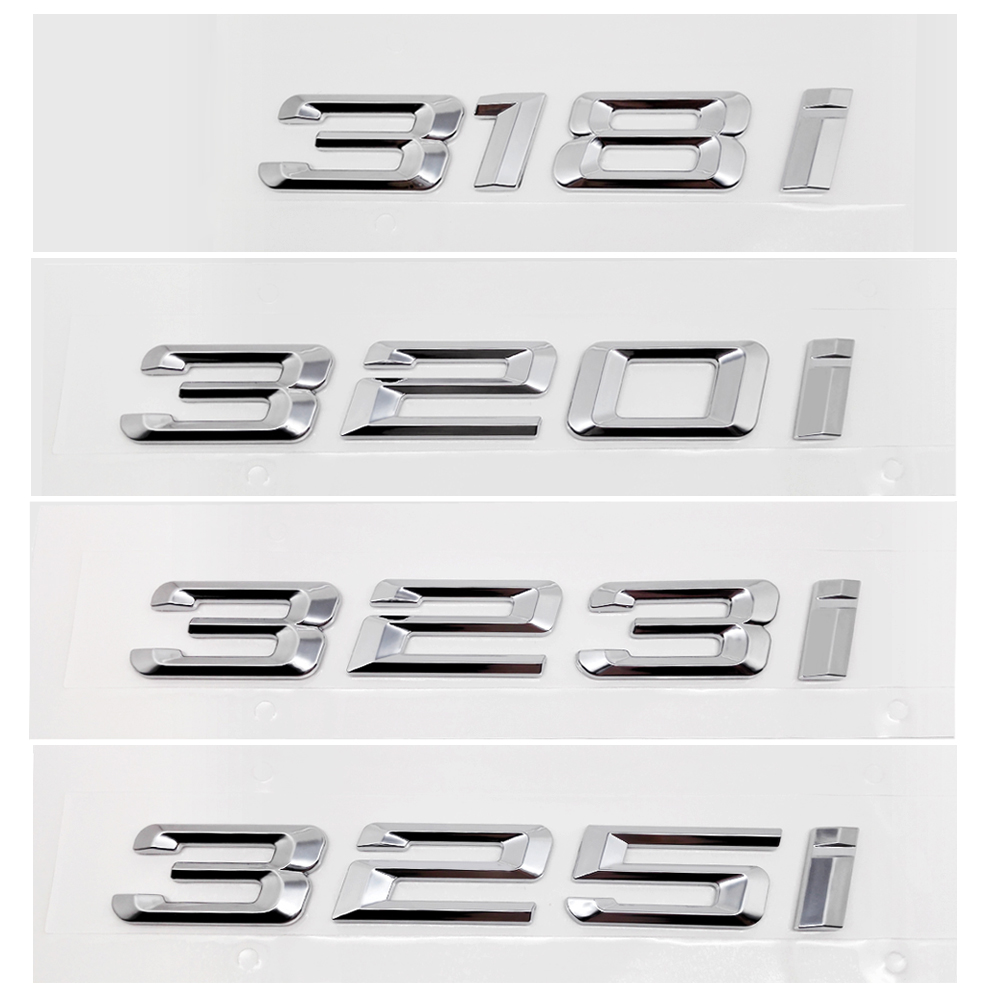 For <font><b>BMW</b></font> DIY Sticker Metal Car-styling Number Auto Car Sticker Decal Badge Emblem For <font><b>BMW</b></font> <font><b>3</b></font> <font><b>Series</b></font> 318i 320i 323i 325i 318 320 <font><b>GT</b></font> image