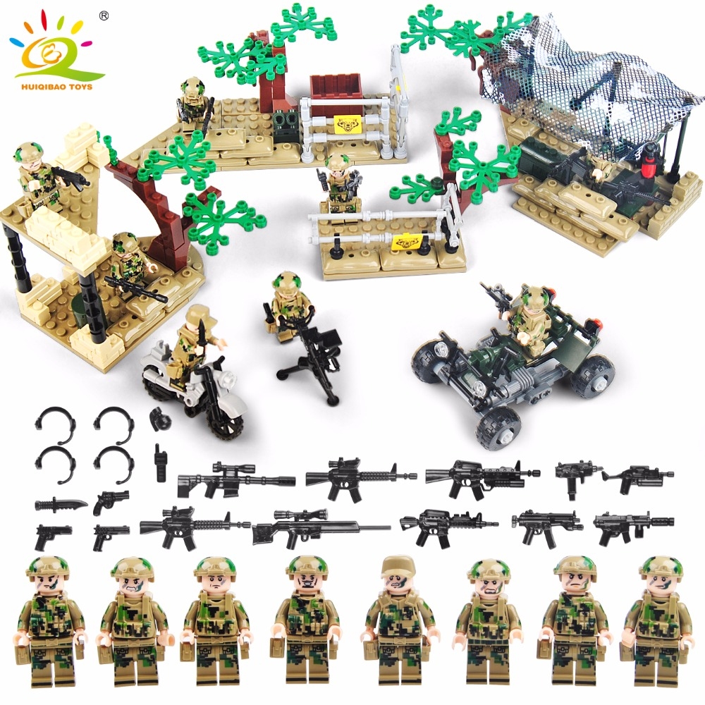 Military Soldier Model Toy Army Men Figures Building Blocks Accessories Kit Decor Play Set Compatible Legoed Toy For Child Gifts 170pcs set military plastic model toy soldier army men figures