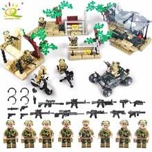 Militaire soldaat model speelgoed leger mannen cijfers bouwstenen accessoires kit decor spelen set compatibel legoed speelgoed voor kind geschenken