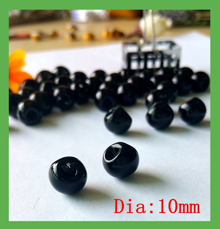 10mm 150 pcs Side hole bulk buttons for craft imitation black pearl buttons mother pearl button sewing accessories in Buttons from Home Garden