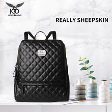 True sheepskin womens bag 2018 new shoulder soft leather